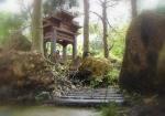 O templo - Detalhe da floresta de Eugênias