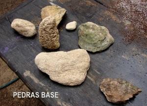 Pedras secundárias para escolha.