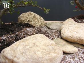 As pedras menores secundárias entrarão neste momento.