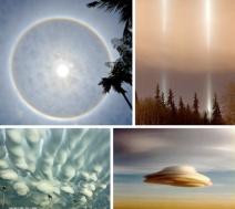 Formação diferente no céu.