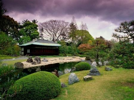 Seiryuen-Garden,-Nijo-Castle,-Japan