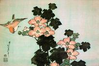 katsushika-hokusai-hibiscus-and-sparrow