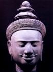 Camboja - Cabeça de Vishnu - Periodo Angkor