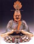 Japão - Buda (Madeira pintada) - Periodo Muromachi - 1392/1568