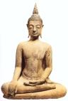 Tailândia (Sukhothai) - Buda Shakyamuni (Arenito) - séc XV