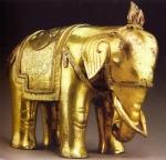 Tibet - Elefante (Bronze folhado a ouro) - séc XV