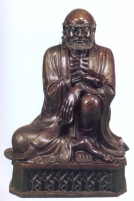 China - Lohan sentado (Bronze) - Perioso Qing - séc XIX