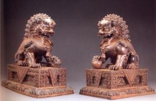 China - Leões Guardiões (Bronze) - Periodo Qing