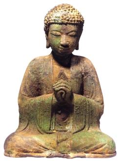 China - Buda em bronze - Periodo Dali - séc XIII