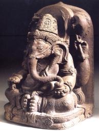 Indonésia ( java) - Ganesha (Pedra vulcânica) - séc XIV