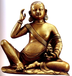 Tibet - Figura de Milarepa ( Bronze) - séc XIV
