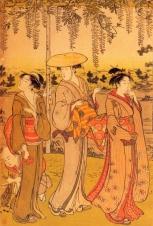 Japão - Artista: Torii Kiyonaga ( 1752/1815) - Periodo Edo