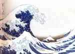 Japão - Artista: Katsushika Hokusai (1760/1849) - A grande onda de Kanagawa - Periodo Edo - séc XIX