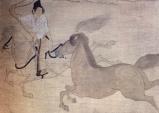 Japão - Periodo Kamakura - séc XX - Cavaleiro a galope