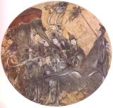 China - Periodo Ming séc XIIV - Fresco Policromia