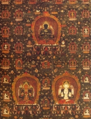 Tibet - Vajradhara,Manjushri e Shadaksshari - Periodo Chenghua 1479