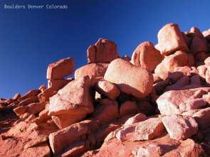 Boulders on Pikes Peak near Denver Colorado