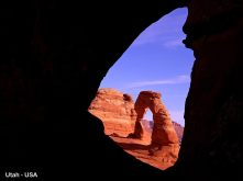 Delicate Arch Through Frame Arch, Utah