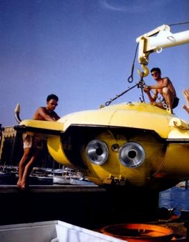 Thomas J. Abercrombie - 1960 - Porto Rico - Jacques Cousteau - Disco mergulhador