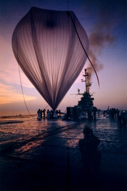 Walter M. Edwards - 1961 - Golfo do México - O Stratolab 5 prestes a fazer uma ascensão recordista