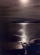 Herbert G. Ponting - 1911 - Antártica - por do sol no estreito Macmurdo