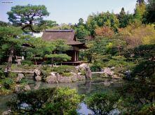 O templo de ginkakuji. Kyoto Japão