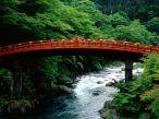 Ponte sagrada do rio Daiya. Nikko japan