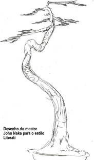 Literati drawing by John Naka, from the Jim Smith collection