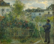 Monet painting in his Garden in Argenteuil,1873.