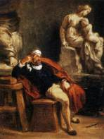 9035-michelangelo-in-his-studio-eug-ne-delacroix