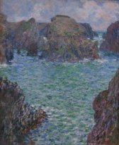 'Port-Goulphar,_Belle-Île',_oil_on_canvas_painting_by_Claude_Monet,_1887,_Art_Gallery_of_New_South_Wales