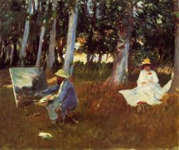 Sargent painting Monet