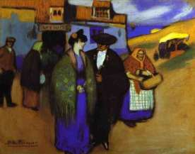 spanish-couple-in-front-of-an-inn-picasso