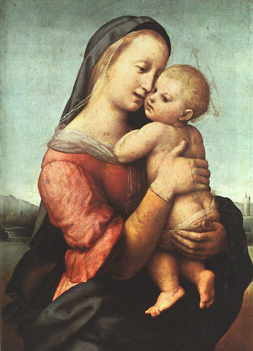 the life and artworks of raffaello sanzio Raphael was famous for his many paintings of the madonna which he depicted in different moods and sizes today, the most famous part of the painting is the two angels, or cherubim, at the bottom these angels have been featured on modern day stamps, t-shirts, postcards, and more.