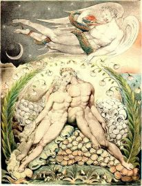 457px-Blake,_William_(English,_1757–1827),_'Satan_Watching_the_Caresses_of_Adam_and_Eve'_(Illustration_to_'Paradise_Lost'),_1808,_pen;_watercolor_on_paper,_50.5_x_38_cm,_Museum_of_Fine_Arts,_Boston,_US