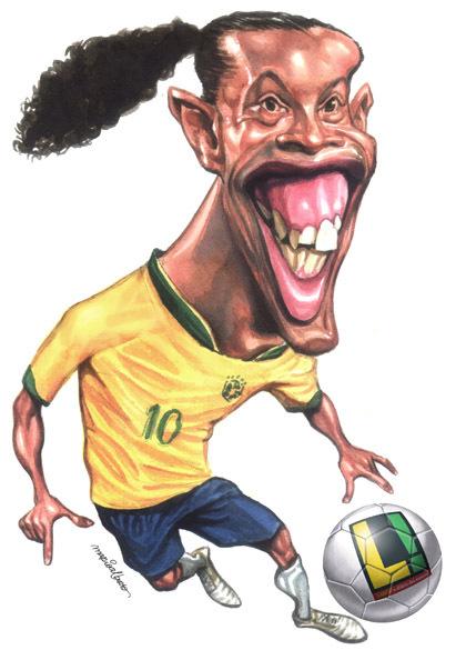 Caricaturas-de-Jogadores-Ronaldinho-Gaucho