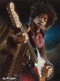 Jimi Hendrix by Sebastian Kruger
