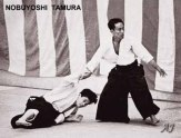 c. 1957 Doshu throwing Nobuyoshi Tamura