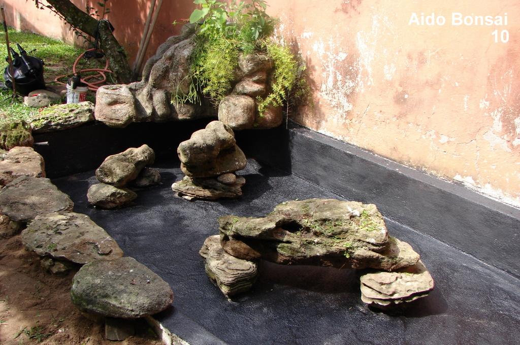 Construindo um lago de carpas aido bonsai for Como criar carpas en estanques