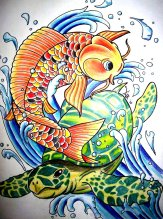 koi_carp_and_sea_turtle_by_crazyxav-d2yvd9z