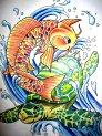 koi_carp_and_sea_turtle_by_crazyxav-d2yvd9z