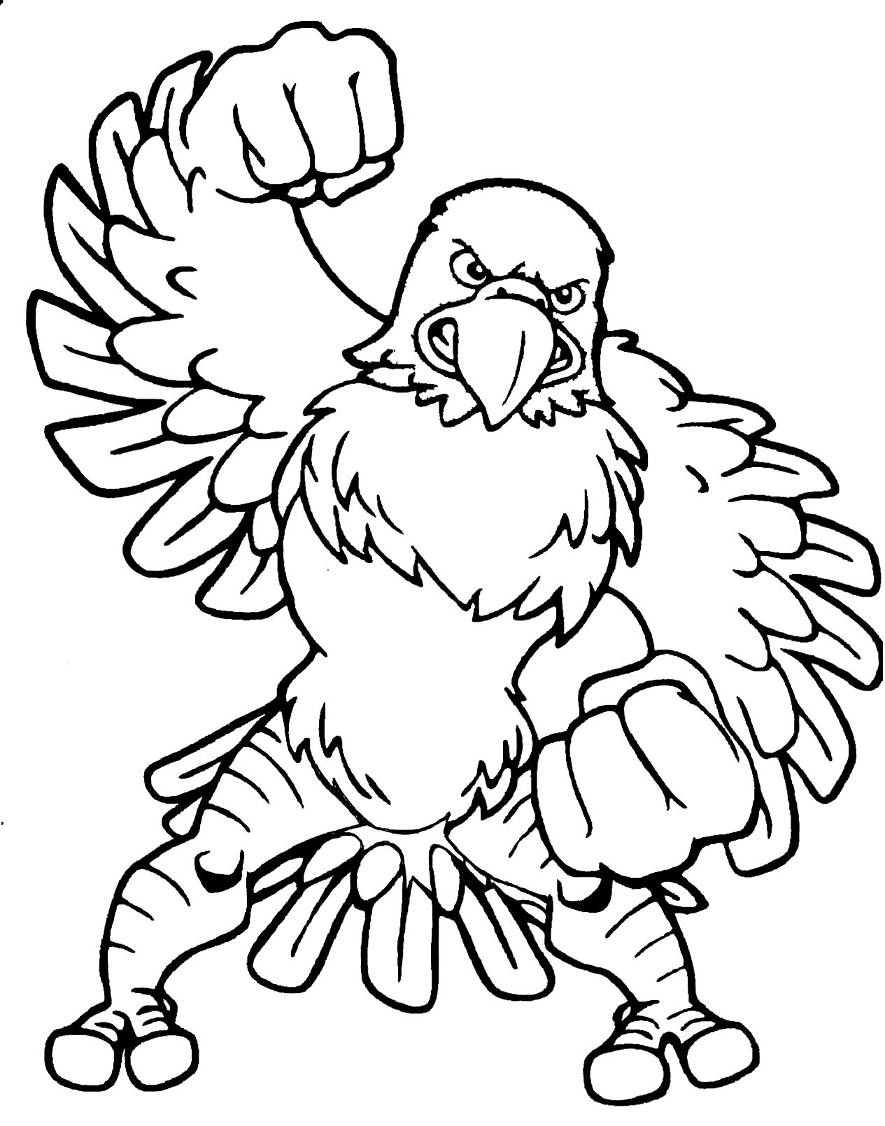 philadelphia eagle coloring pages - photo#26