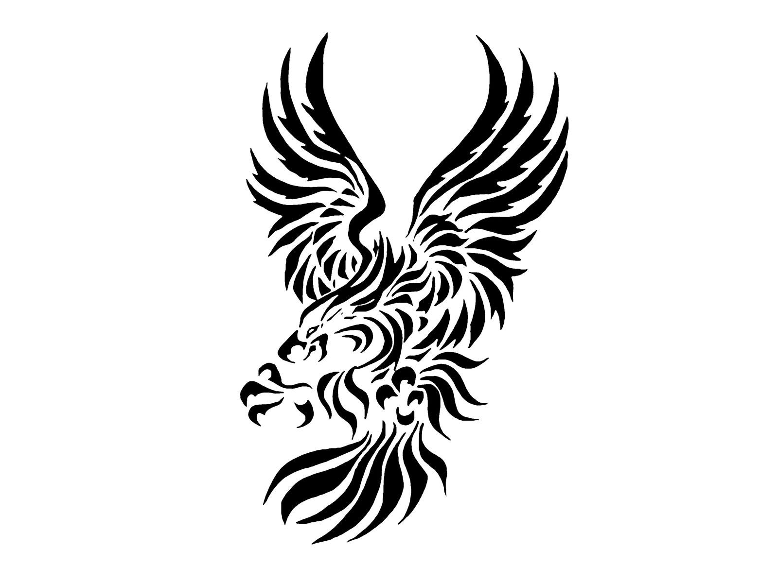 Desenhos De Guias Para Tatoo Tribal Eagle With Big Claws Tattoo