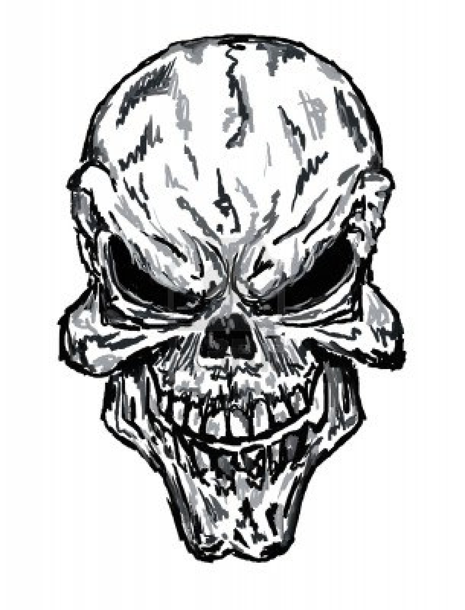 Free Coloring Pages Of Evil Skulls