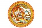 11426453-tiger-painting-on-mable-wall-in-chinese-temple-on-white-background