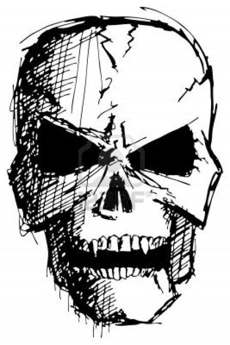 15426233 Sketch Evil Monster Skull For Halloween Aido Bonsai