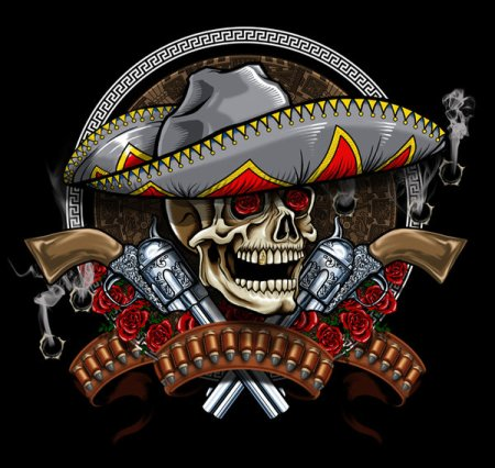 CAVEIRA MEXICANA Mexican_Skull_by_russellink