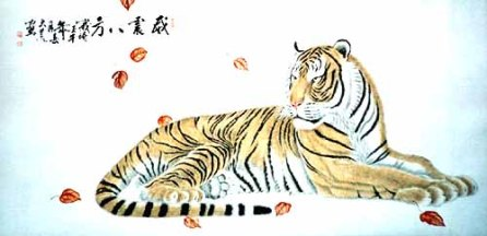 chinese-painting-tiger-T4019