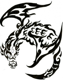 dragon-tribal-tattoo