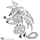 FIRE-Maori-style-drake-tattoo